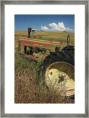 Deere John Framed Print by Latah Trail Foundation