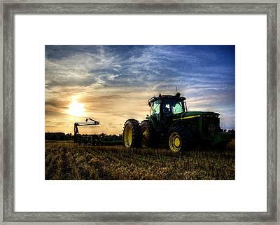 Deere Sunset Framed Print