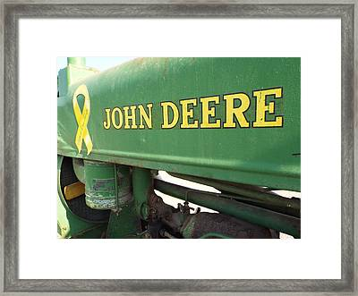 Deere Support Framed Print