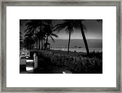 Deerfield Beach Framed Print by Louis Ferreira