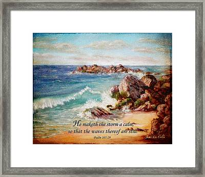 Deerfield Wave Psalm 107 Framed Print