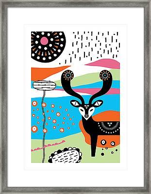 Deery Me Framed Print