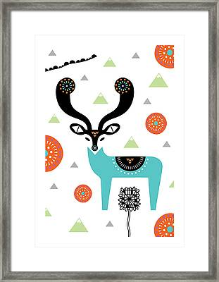 Deery Mountain Framed Print