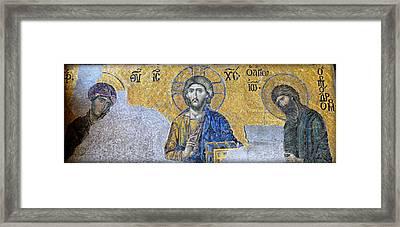 Deesis Mosaic -- Hagia Sophia Framed Print by Stephen Stookey