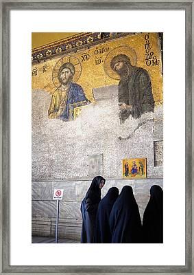 Deesis Mosaic. 13th C. Turkey Framed Print