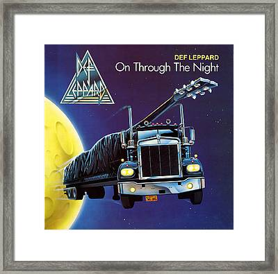 Def Leppard - On Through The Night 1980 Framed Print by Epic Rights