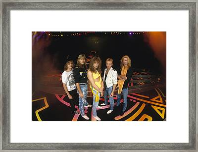 Def Leppard - Round Stage 1987 Framed Print by Epic Rights