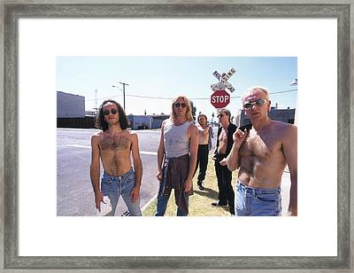 Def Leppard - Slang Tour 1996 - Jackson Street Framed Print by Epic Rights