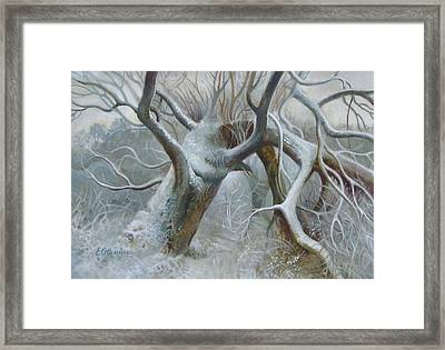 Defeated Framed Print by Elena Oleniuc