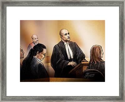 Defence Lawyer Edward Sapiano At Jennifer Pan Trial Framed Print
