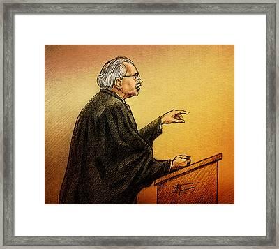 Defence Lawyer Robert Nuttall Framed Print