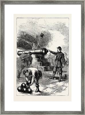 Defence Of Fort Sumter, It Is A Third System Masonry Sea Framed Print
