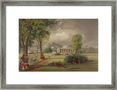 Defence Of The Arrah House Framed Print by British Library