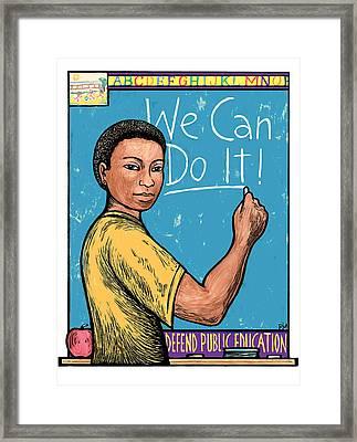 Defend Public Education Framed Print