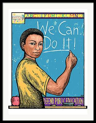 Yes We Can Mixed Media Framed Prints