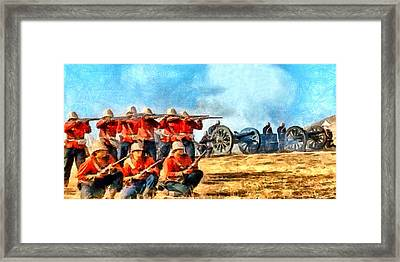 Defend The Artillery Framed Print by Digital Photographic Arts