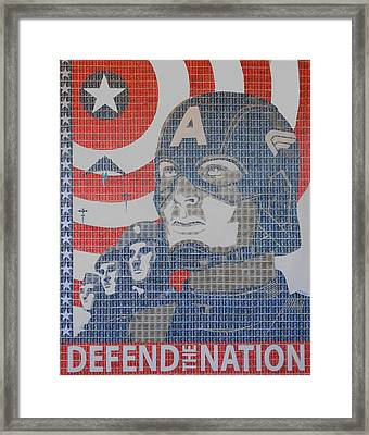 Defend The Nation Framed Print by Gary Hogben