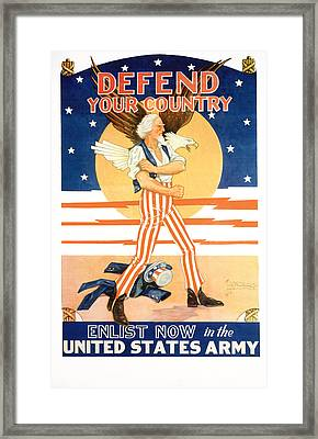 Defend Your Country Framed Print by MotionAge Designs