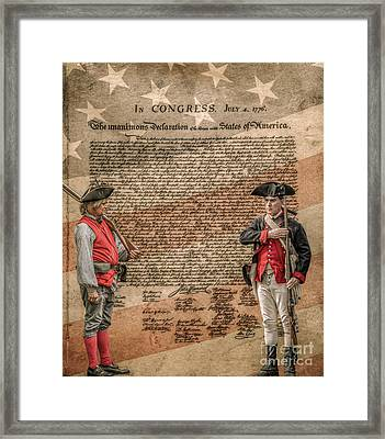 Defenders Of Independence Framed Print by Randy Steele