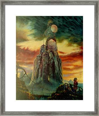 Defenders Of Rocky Desert Framed Print by Henryk Gorecki