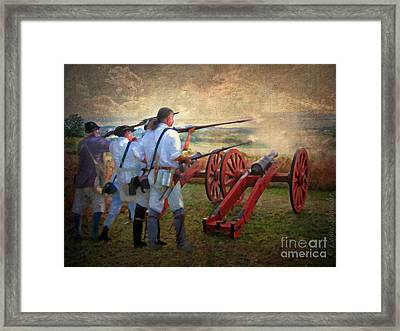 Defending Bemis Heights 1777 Framed Print by Lianne Schneider