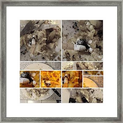 Framed Print featuring the photograph Defense De Fumer Part One by Sir Josef - Social Critic - ART