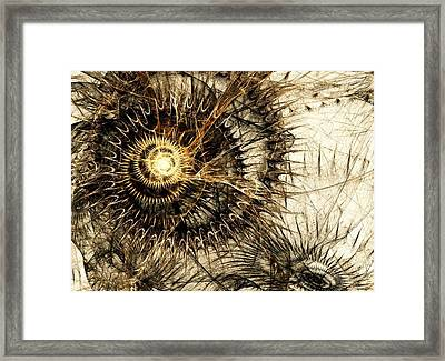 Defense Mechanism Framed Print