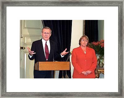 Defense Secretary Donald H. Rumsfeld Framed Print