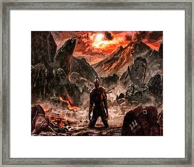 Defiant To The End Framed Print by Joe Misrasi