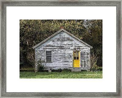 Defiant Yellow Door Framed Print by Terry Rowe