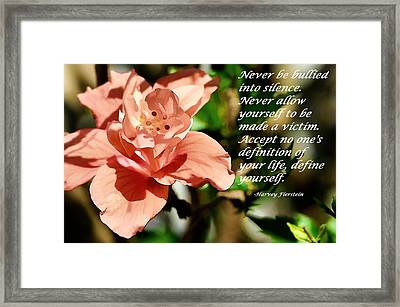 Define Yourself Framed Print