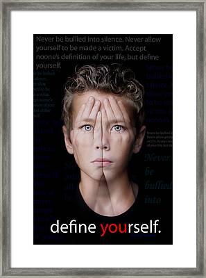 Define Yourself Framed Print by Stephanie Necessary