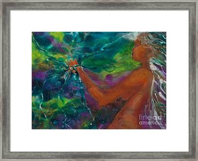 Defining Her Essence Framed Print by Ilisa Millermoon