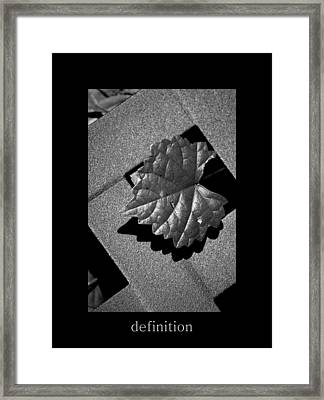 Definition Framed Print