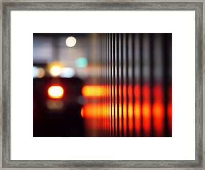Defocus Image Of City Street At Night Framed Print by Miyuki Watanabe / Eyeem