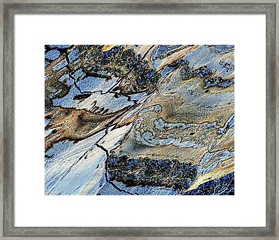 Deformations In Serpentinite Framed Print by Dirk Wiersma
