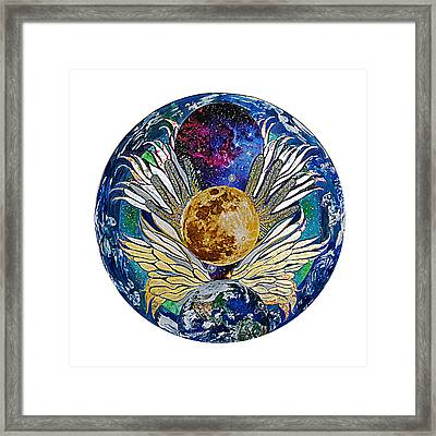 Defying Gravity Framed Print by Jacqueline Sacs