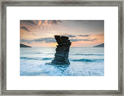 Defying The Elements Framed Print by Christos Andronis