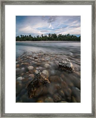 Defying The Flow Framed Print by Davorin Mance