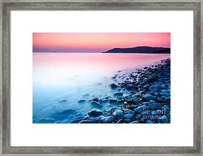 Deganwy Sunset Framed Print by Darren Wilkes