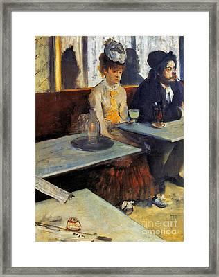 Degas: Absinthe, 1873 Framed Print by Granger