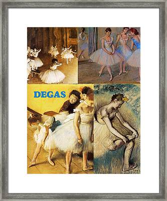Degas Collage Framed Print by Philip Ralley
