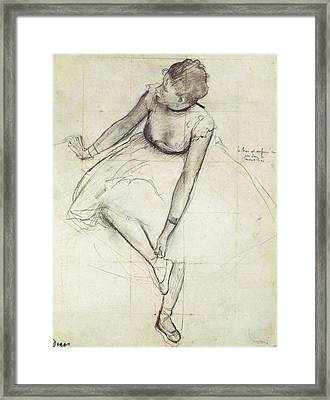 Degas, Edgar 1834-1917. A Dancer Framed Print by Everett