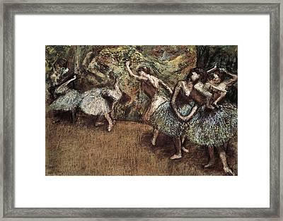 Degas, Edgar 1834-1917. Ballet Scene Framed Print by Everett