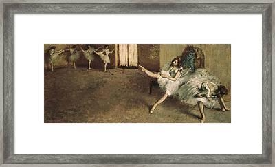 Degas, Edgar 1834-1917. Before Framed Print by Everett