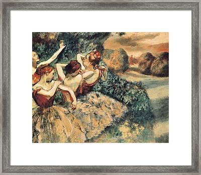 Degas, Edgar 1834-1917. Four Dancers Framed Print by Everett