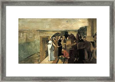 Degas, Edgar 1834-1917. Semiramis Framed Print by Everett