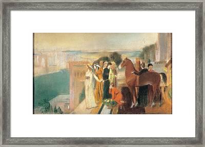 Degas Edgar, Design For Semiramis Framed Print by Everett