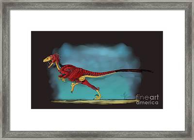 Deinonychus, A Genus Of Carnivorous Framed Print by Stocktrek Images