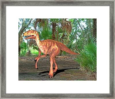 Deinonychus Dinosaur Framed Print